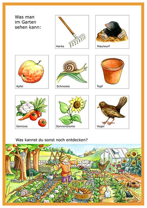 Arbeitsproben Melanie Woicke - Arbeitsblatt Garten